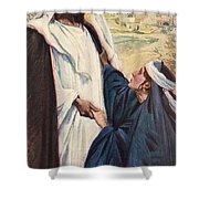 Meeting Of Jesus And Martha Shower Curtain