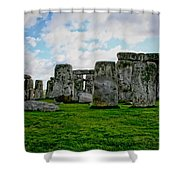 Megaliths Shower Curtain