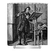 Meissonier: Flute Player Shower Curtain