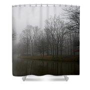 Melancholy Foggy Evening Shower Curtain