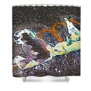 Melted Pin Up Girl Shower Curtain