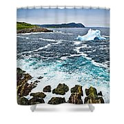 Melting Iceberg In Newfoundland Shower Curtain by Elena Elisseeva