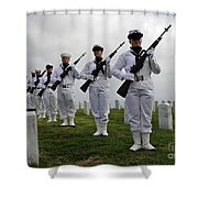 Members Of A Ceremonial Honor Guard Shower Curtain