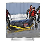 Members Of The Us National Swim Team Shower Curtain