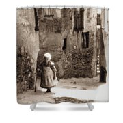 Memories From Motherland Shower Curtain by Michele Mule