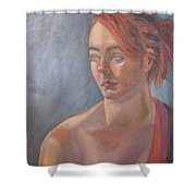 Memories In Red Shower Curtain
