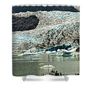 Mendenhall Glacier Alaska Shower Curtain