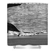Mendenhall Glacier Bw Shower Curtain