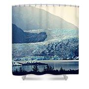 Mendenhall Glacier On A Foggy Morning Shower Curtain