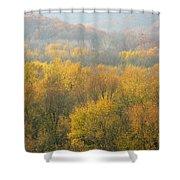 Meramec River Valley Autumn At Castlewood State Park In Missouri Shower Curtain