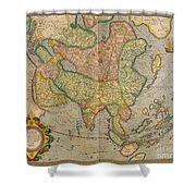 Mercators Map Of Asia Shower Curtain
