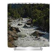 Merced River In Yosemite Shower Curtain by Tim Mulina