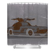 Mercedes Benz 300 Shower Curtain by Naxart Studio