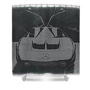 Mercedes Benz C IIi Concept Shower Curtain by Naxart Studio