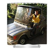 Mercedes Golf Cart Shower Curtain