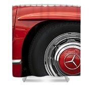 Mercedes Wheel Shower Curtain