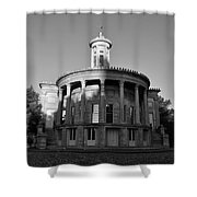 Merchant Exchange Building - Philadelphia In Black And White Shower Curtain