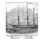 Merchant Steamship, 1844 Shower Curtain