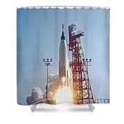 Mercury-atlas 9 Lifts Shower Curtain