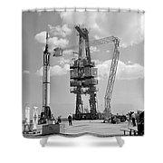 Mercury-redstone 3 Prelaunch Activities Shower Curtain