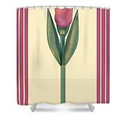 Merlot Calla Lily Banner Shower Curtain