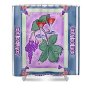 Merlot Fine Wines Orchard Box Label Shower Curtain