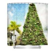 Merry Christmas Tree 2012 Shower Curtain