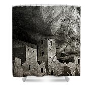 Mesa Verde - Monochrome Shower Curtain by Ellen Heaverlo