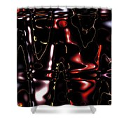 Metal Fractals 1 Shower Curtain