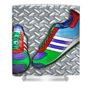 Metal Grate Sport Shoe Shower Curtain