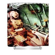 Metal Lathe In Submarine Shower Curtain