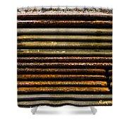 Metal Stripe  Shower Curtain