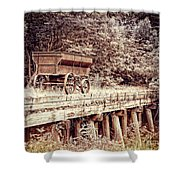 Metal Wagon On The Trestle Shower Curtain