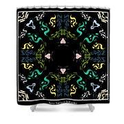 Metallic Flourishes Warp Shower Curtain