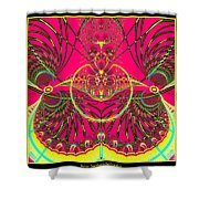 Metamorphosis  Emerging From The Cocoon Fractal 125 Shower Curtain