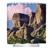 Meteora Greece Shower Curtain