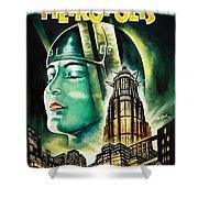 Metropolis Poster Shower Curtain