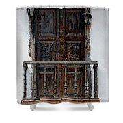 Mexican Balcony Shower Curtain