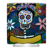 Mexican Lady Shower Curtain