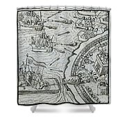 Mexico - Spanish Conquest Shower Curtain
