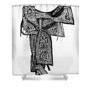 Mexico: Saddle, 1882 Shower Curtain
