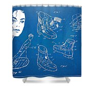 Michael Jackson Anti-gravity Shoe Patent Artwork Shower Curtain