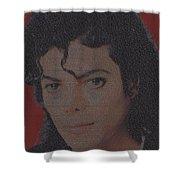 Michael Jackson Songs Mosaic Shower Curtain by Paul Van Scott