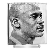 Michael Jordan In 1990 Shower Curtain
