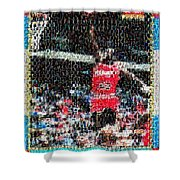 Michael Jordan Rookie Mosaic Shower Curtain