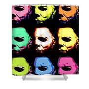 Michael Myers Mask Pop Art Shower Curtain