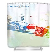Michael Schumacher Shower Curtain by Naxart Studio