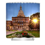 Michigan Capitol - Hdr - 2 Shower Curtain