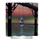 Michigan City Lighthouse 2 Shower Curtain