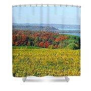 Michigan Winery Views Shower Curtain